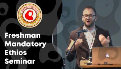 Freshman Mandatory Ethics Seminar | Kevin Barrett | Monktoberfest 2018