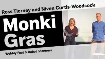 Niven Curtis-Woodcock and Ross Tierney – Wobbly Feet & Robot Scanners